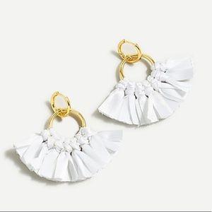 J. Crew Fabric Fan Earrings NWT